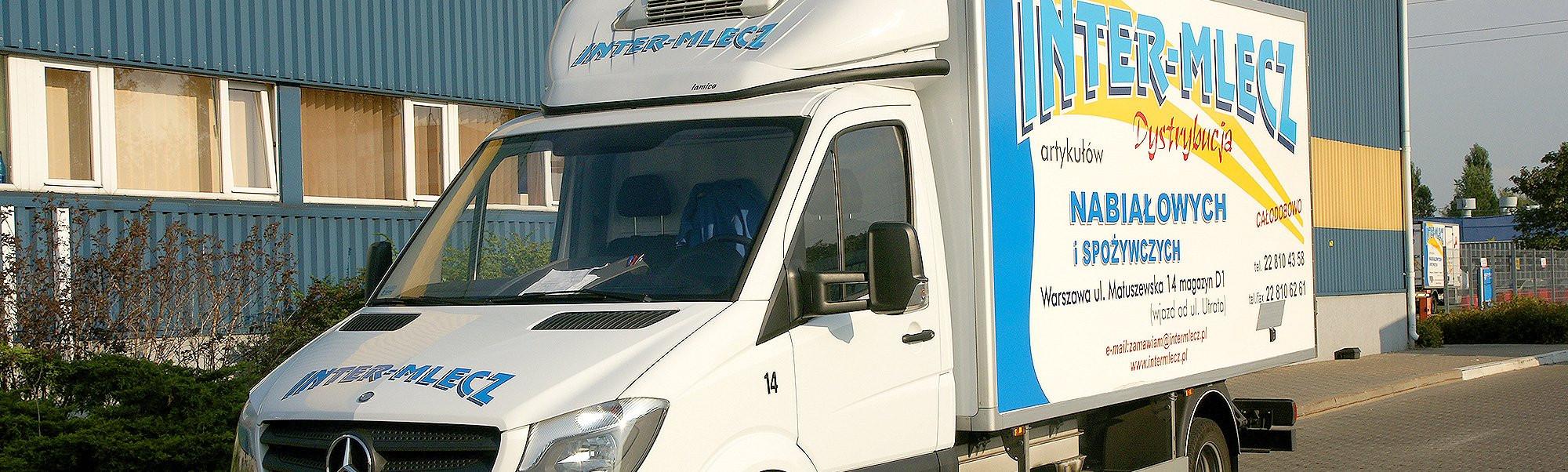 PROFESJONALNA OBSŁUGA Samochody wyposażone w chłodnię i mroźnię.